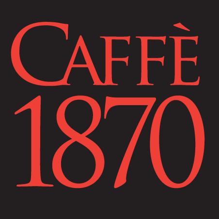 Red Caffe 1870 on balack background