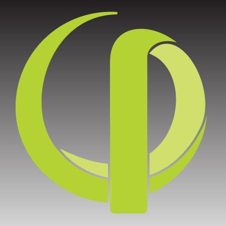 Green Simpliphi logo on graduted balck background